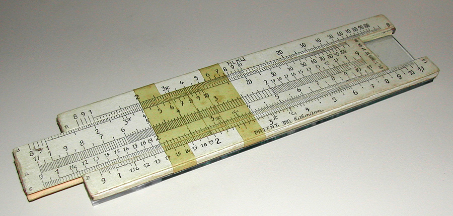 alku glass slide rule